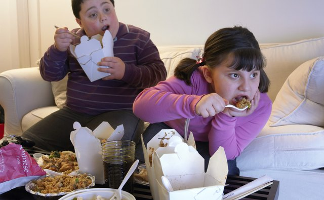Children are developing health problems due to excessive consumption of unhealthy food.