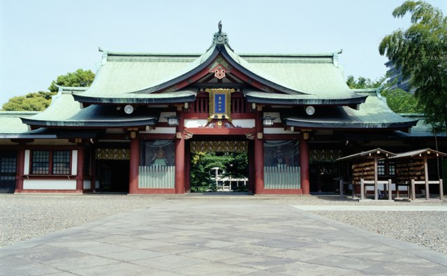 The entrance to a Shinto shrine