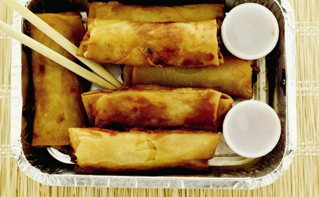 American-style egg rolls are usually thick and fried.