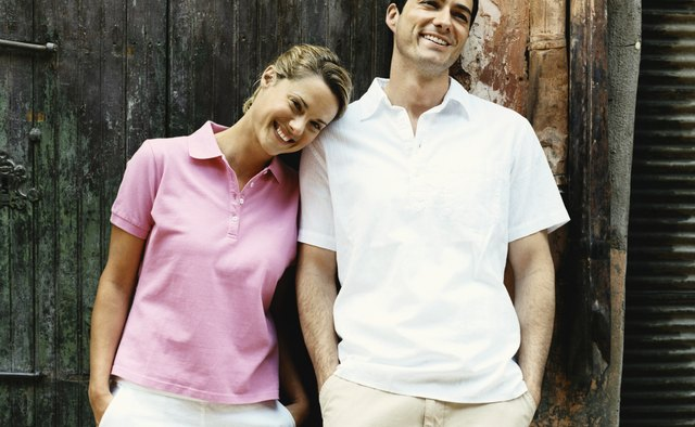 Preppy polo shirts feel feminine in pastel shades.