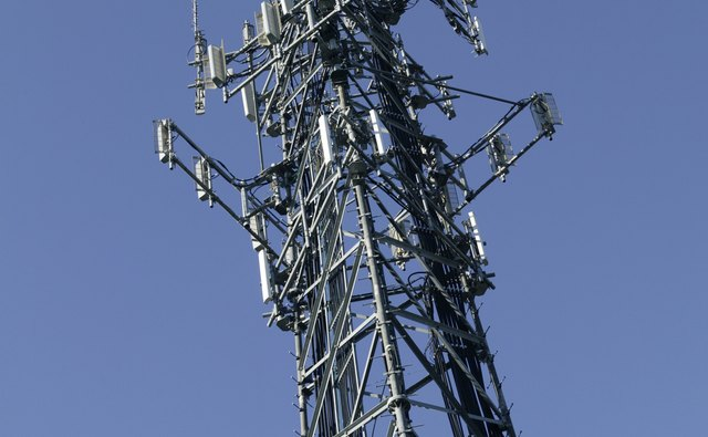 Your cellphone sends and receives signals through towers like this.