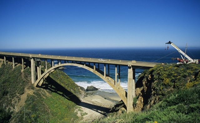 Which bridge is closely associated with the Pacific Coast Highway?