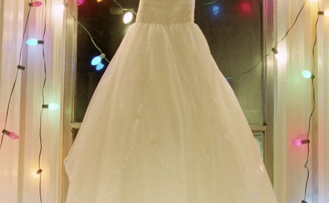 Wedding dresses are often in the style of ball gowns.