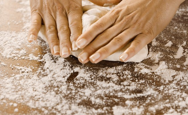Kneading dough by hand involves a series of folds, turns and pressure.