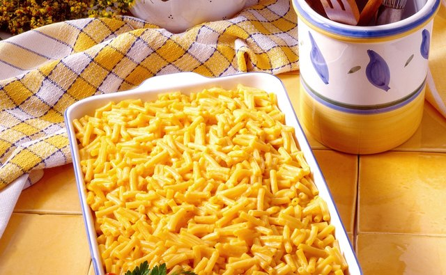Macaroni and cheese can be made casserole-style.