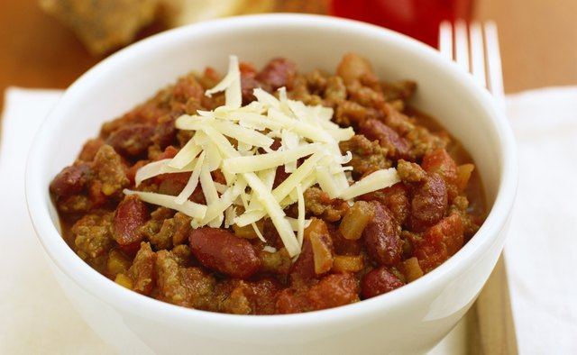 Chili can be vegetarian or contain meat.