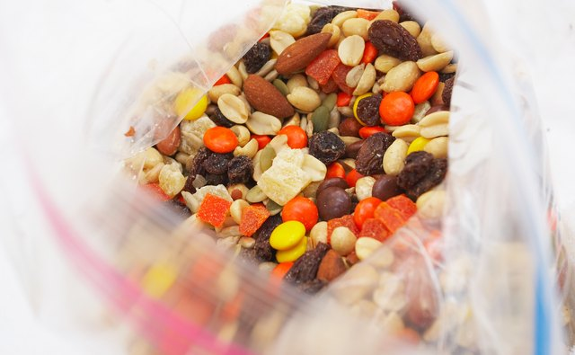 A bag of trail mix is a good snack.