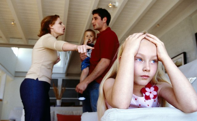Parental conflict in front of a child can result in emotional distress.
