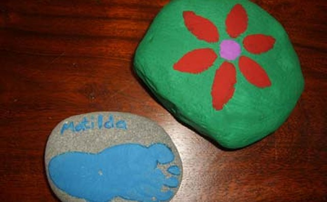 Footprints and Painted Flower