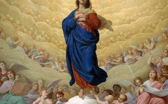 The Virgin Mary Draped in Indigo Courtesy of Times Online