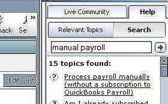 How to Setup Manual Payroll in Quickbooks   It Still Works