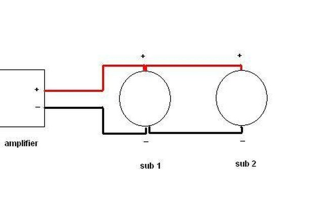how to wire 2 subwoofers on a mono amplifier