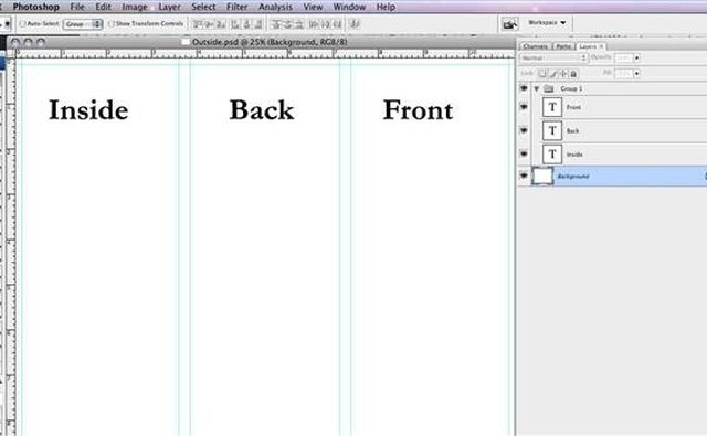 How to make a tri fold brochure in photoshop it still works for 4 column brochure template