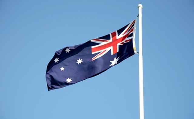 Unlike the British Flag, the Australian Flag includes stars in its design.