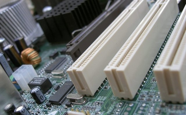 White PCI slots on the motherboard