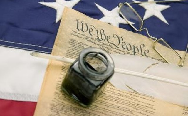 The Constitution of the United States defines citizenship and guarantees certain rights.