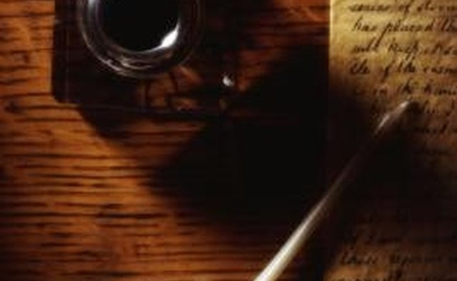 A quill pen had to be frequently reloaded with ink.