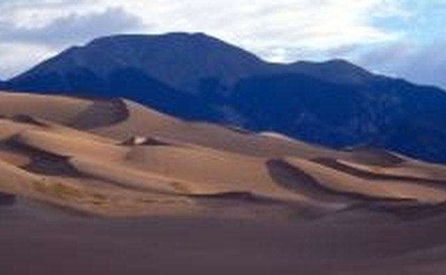 Sand dunes are a typical feature of tropical deserts.
