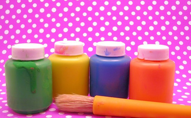 Use paint smocks or plastic bags to protect children's clothing.