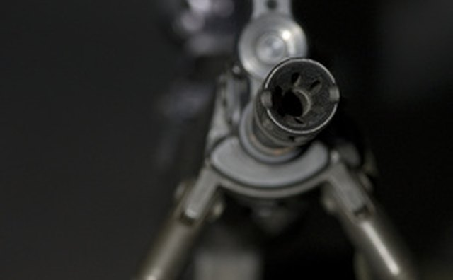 When sighting in the scope, adjust one turret at a time.