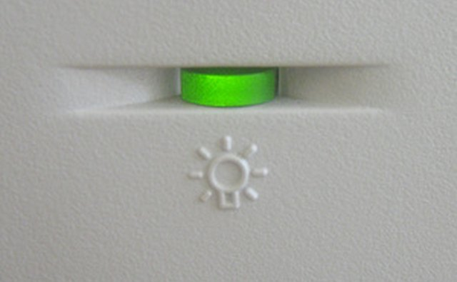 A green LED on your computer will indicate correct hard-drive and internet connection function.