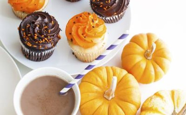 Pumpkins, festive cupcakes, and apple cider