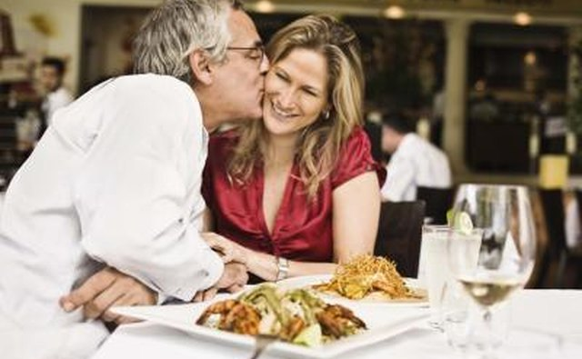 Go out to your favorite restaurant to celebrate your one month anniversary.