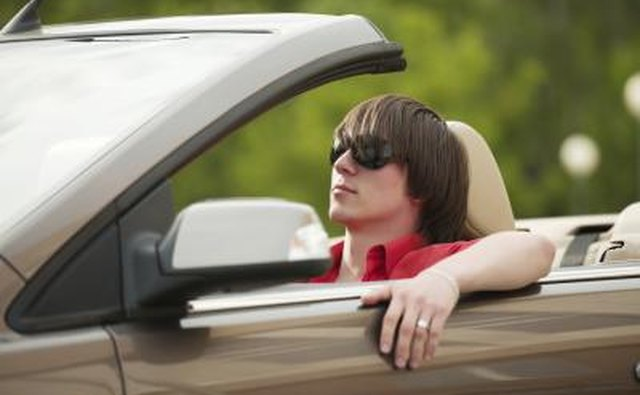 Sunglasses can help him drive safer.