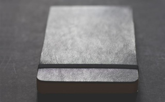 A moleskin notebook.