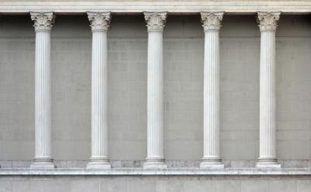 A row of Doric columns