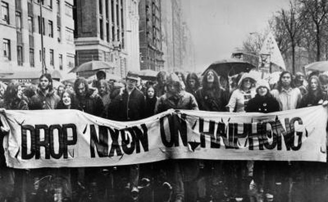 Anti-war protest in New York City in 1969