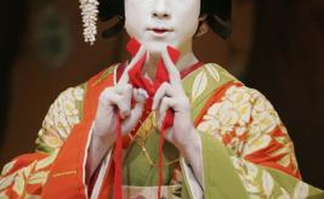The makeup for many Kabuki characters is quite basic.