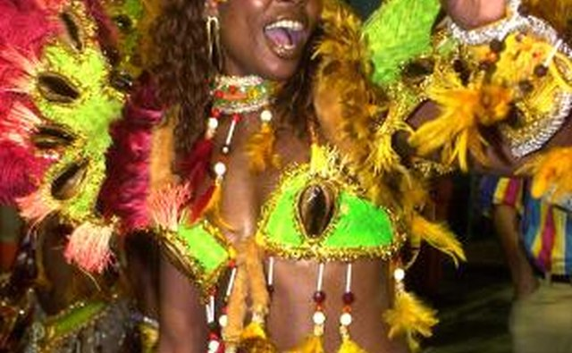 Samba dancer in costume
