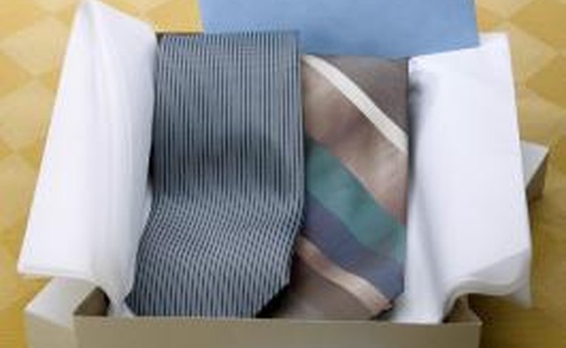Necktie in a box