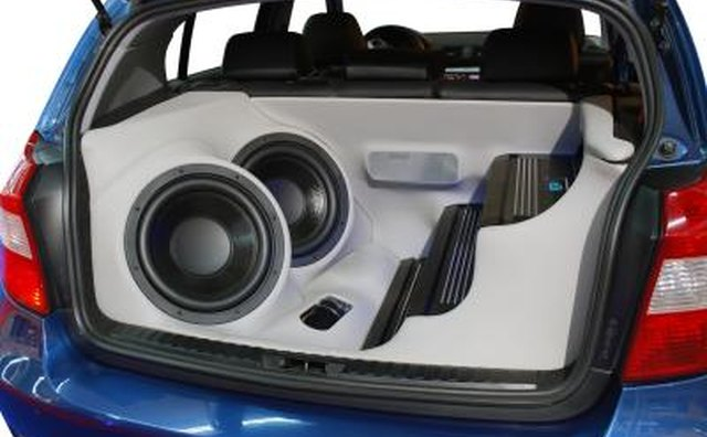 Audio system in car.