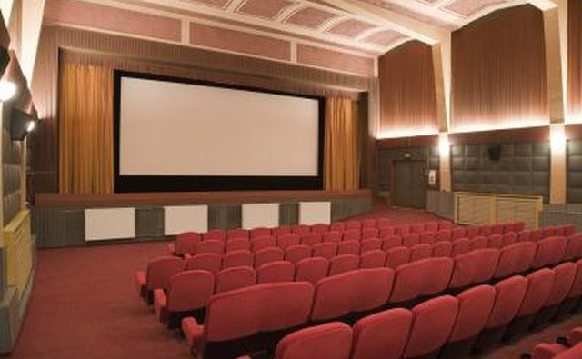 Host a free movie night in a large area where participants can comfortably sit, like in an auditorium.