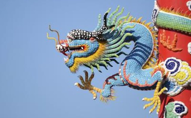 Chinese blue dragon