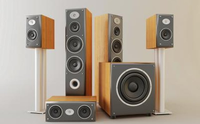 Speakers for a home cinema.