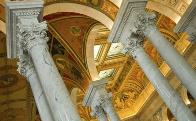 Pillars and arches in the U.S. Congressional library.