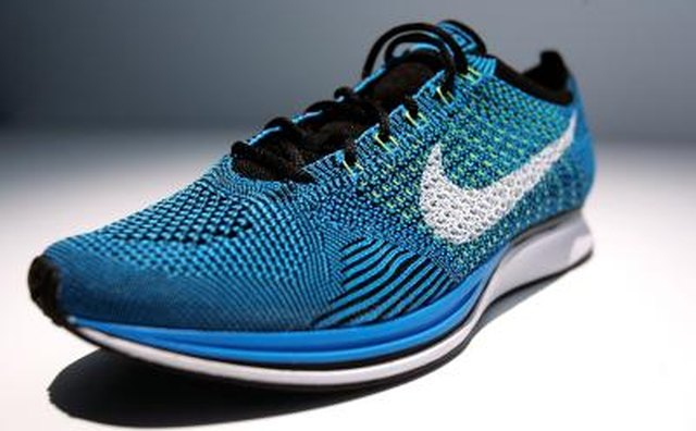 Nike sneaker with new Flyknit technology