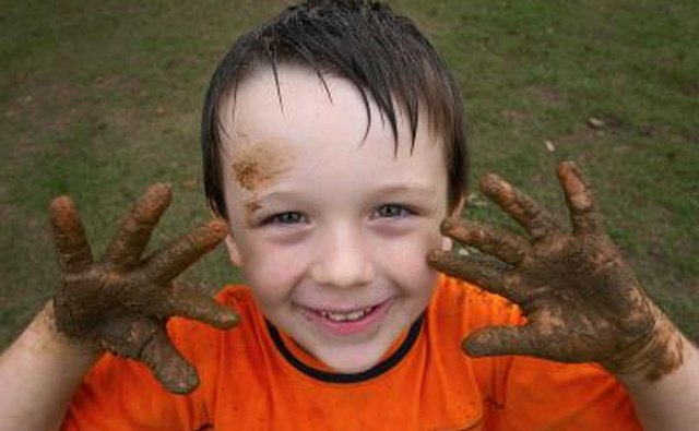 9-year-olds love to get muddy!