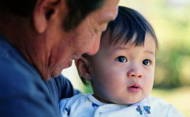 Chinese Grandfather with grandchild