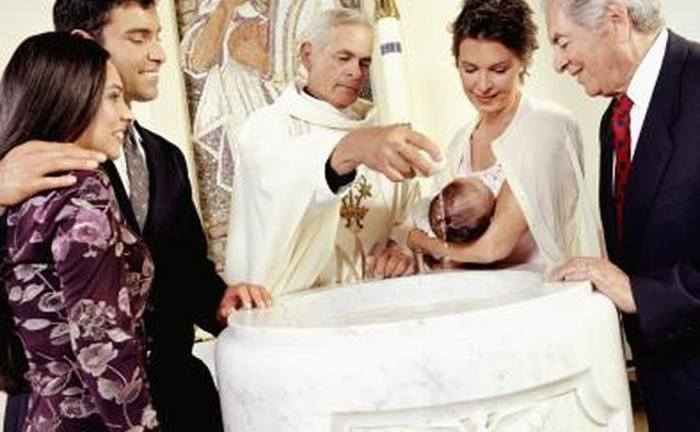 Child being Christened