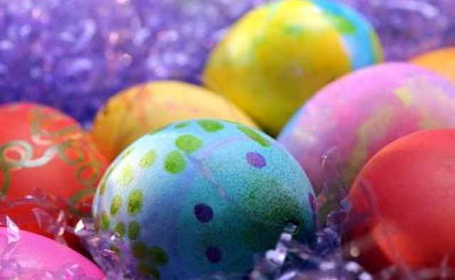 Coloring eggs existed in the pagan world, but was not a Christian tradition until the 13th century.
