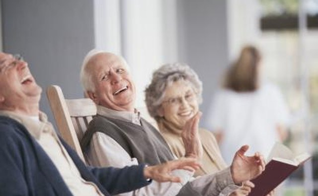 A variation of musical chairs can encourage senior citizens to move around and talk to each other.