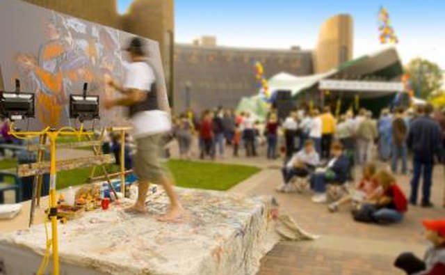 Outdoor live art performance