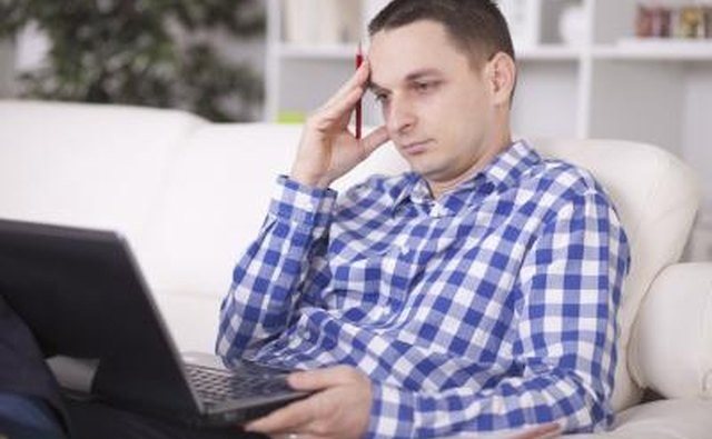 Man looking up social security office information