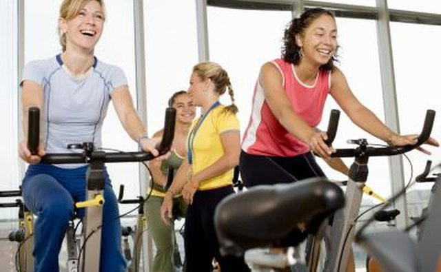 women exercising in gym