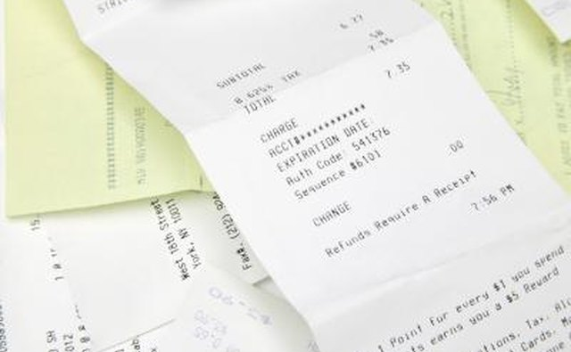 Receipts can help prove item valuation