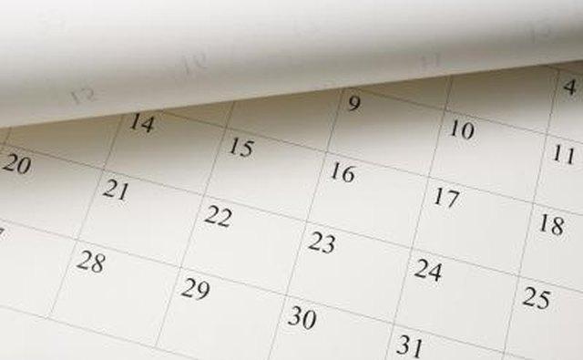 Picking a date on a calendar.